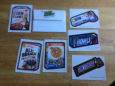 Topps Wacky Packages 2013 Postcards Set Series 9 + Envelope Cereal Parody Beast