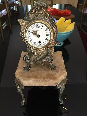 Antique French Clock Beautiful, Bronze Unique Look!!