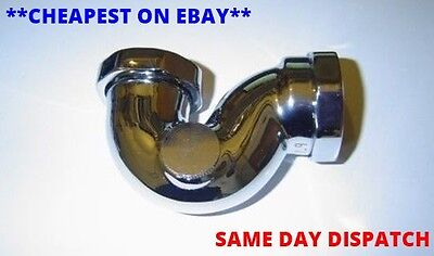 """Exposed Low Level Shallow Seal Chrome on Brass 1 1/2"""" Freestanding Bath P Trap"""