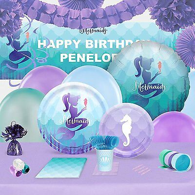 Mermaids Under the Sea Party Supplies - Complete Kit for 16