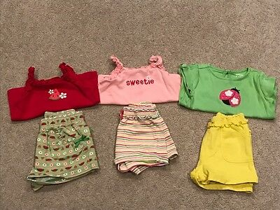 GYMBOREE Baby Girl 6 piece outfit lot - Size 18-24 months