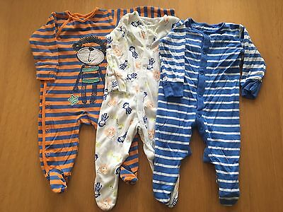 3 Baby Boys Next Sleepsuits 3-6 Months