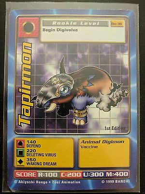 Digimon Digi-Battle Card - Series 1: Tapirmon 1st Edition (BO-36)