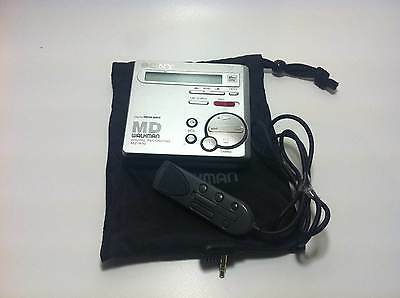 Silver Sony MZ-R70 MiniDisk Player/Recorder with Remote Control