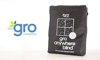Portable Window Blackout Blind with Suction Cup The Gro Company Light Block NEW