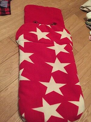 John Lewis baby Red And White Star Foot Muff ,excellent condition