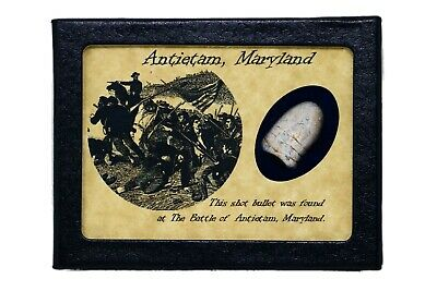 Civil War Bullet from The Battle of Antietam, Maryland with COA