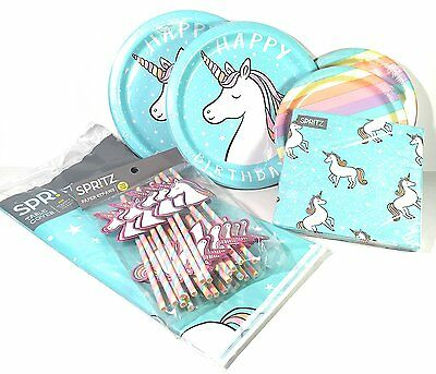 Magical Rainbow Unicorn Themed Birthday Party Pack for 20