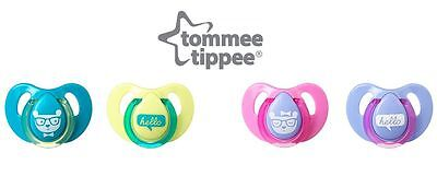 Tommee Tippee Decorated Cherry natural latex soothers 6-18m boys/girls bpa free