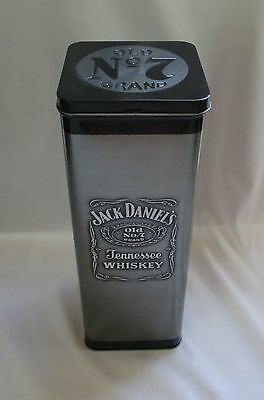 Jack Daniel's Old No. 7 Brand Tennessee Whiskey Advertising Tin ~Metal Container