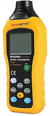 Protech MS6208B 50-250mm Non-contact Measurement Digital Tachometer With 100