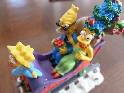 Simpsons Christmas Express Sculpture w/COA  All Aboard for the Holidays-REDUCED!