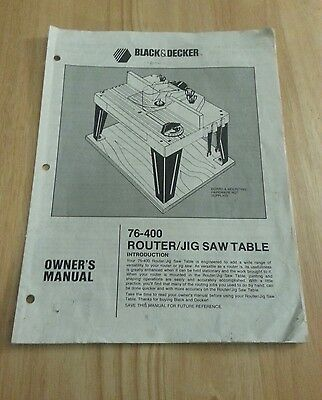 Black And Decker 76 400 Router Table Owners Manual