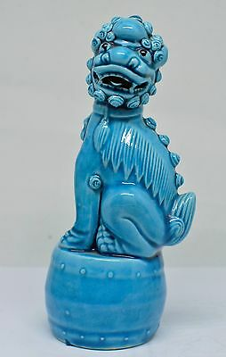 Vintage chinese Porcelain Foo Dog Figurine ~ Marked ~ 6 Inches Tall ~