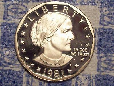 1981-S Type 2 Susan B Anthony Dollar-Nice Raw Coin for Album!