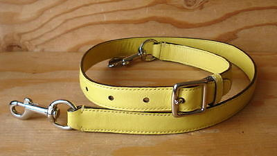 Nice Adjustable Yellow Leather Replacement Shoulder Strap For Purse/Handbag/Bag