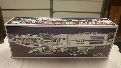 2003 Hess Truck - Toy Truck and Race Cars - New in Box MINT
