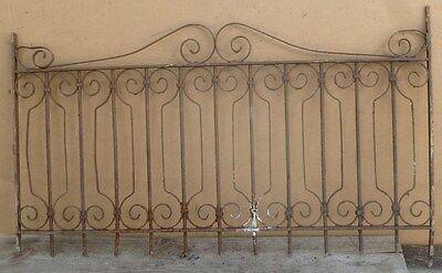 Antique Wrought Iron WINDOW GATE - Architectural Salvage - 44""
