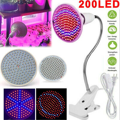 Led plant Grow Light Lamp bulbs Flexible Desk Holder Clip Plants Flower Indoor