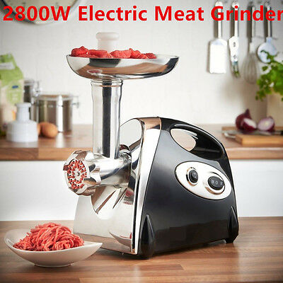 NEWEST Stainless Steel 2800W Electric Meat Grinder Mincer Sausage 220-240V