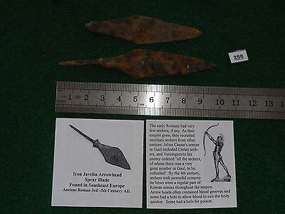 2- Arrowhead / Spear, Ancient Roman, 3rd - 5th century, Found in Northern Europe