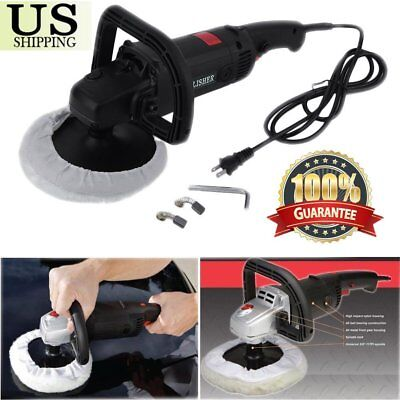 """New 7"""" Electric 6 Variable Speed Car Polisher Buffer Waxer Sander Detail Boat BT"""