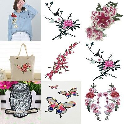 Flowers Embroidered Applique Patch DIY Iron & Sewing On Jeans Dress Skirt Bag