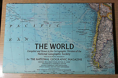 1970 National Geographic map of The World