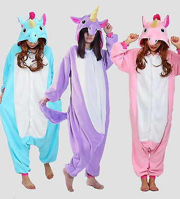 Unisex Unicorn Tenma Kigurumi Pajamas Animal Cosplay Costume Sleepwear