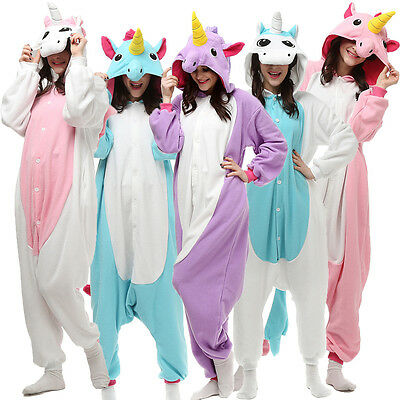 Unisex Animal Unicorn Tenma Kigurumi Pajamas Cosplay Costume Sleepwear