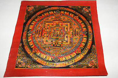 RARE old Handpainted Tibet Chinese Thangka Gold oil Painting Buddha Meditation a