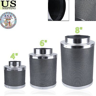 4/6/8inch Home Car Activated Carbon Charcoal Filter Inline Fan Odor Control U