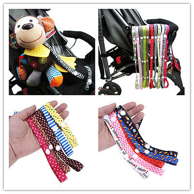 Baby Kids Toddler Stroller Strap Pacifier Holder Toy Strap Clasps Anti Lost Belt