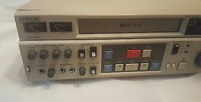 Sony SVO-9600 VHS Videocassette Recorder Professional Video Editing VCR