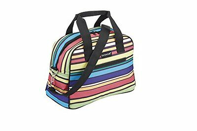 """Kitchencraft """"We love Summer pastel-striped holdall-style Cool bag, 11.5l (2.5"""