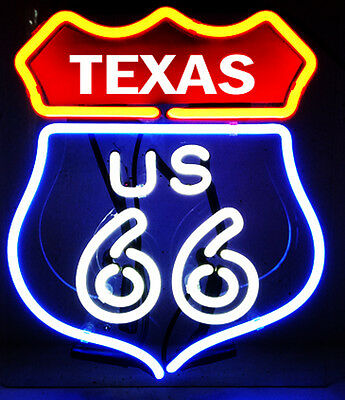 Route US 66 TEXAS Club Bar Beer Open Wall Game Glass Neon Sign Light Lamp Poster