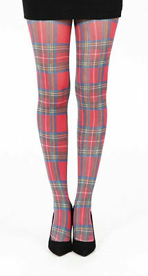 3a708d8d24c New Ladies Women Pamela Mann Red Tartan Opaque Designer Tights-Plus Size