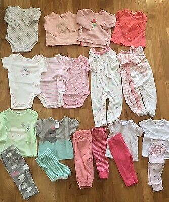 Bulk Girls Baby Clothes Size 00 Preowned