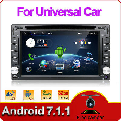 Android 6.0 Double 2 DIN GPS Navigation HD Car Stereo DVD Player Bluetooth WIFI