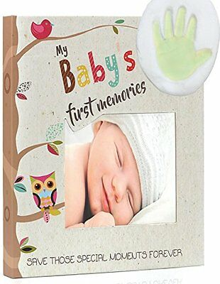 Baby Keepsake Set with Memory Book Footprint Box Frame & Hanging Frames