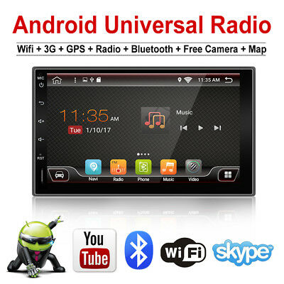 "7"" Android 6.0 Quad Core 2DIN Car Radio Stereo Player GPS 3G wifi bluetooth"