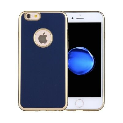 ELETTRONICA Dark Blue For iPhone 6 & 6s Electroplating Soft TPU Protective Cove