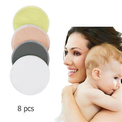 8pcs Baby Breast Feeding Nursing Pads Reusable Bamboo Nursing Pads Washable Soft