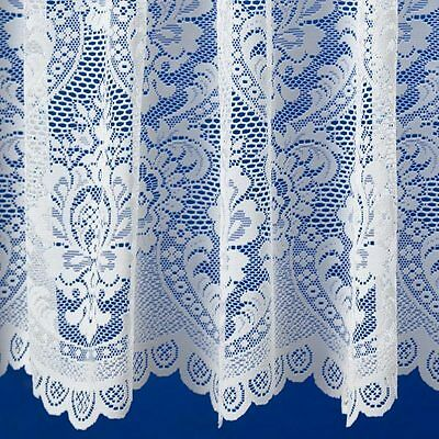 Best Selling Downton Vintage Lace Look White Net Curtain Premium Quality & Value