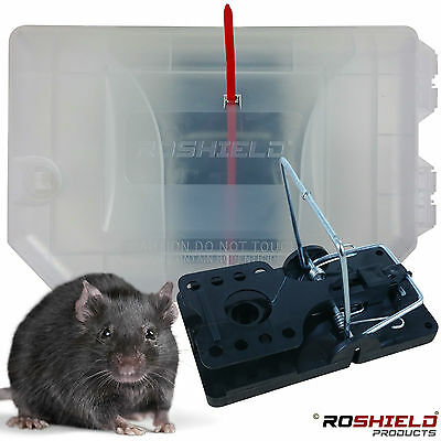 Clear Rat Trap Box Killer - Garden Safe Control Quick - Professional Heavy Duty