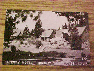vintage truckee CA california real photo postcard-gateway motel