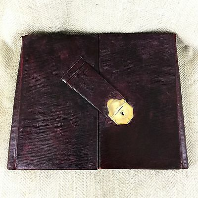 Antique Leather Folio Writing Case Victorian Asprey & Co Wallet Travelling Bag