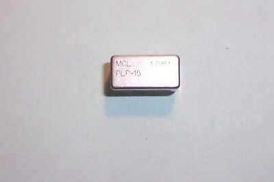 Mini-circuits PLP-15  DC-15Mhz 50 Ohm Low pass filter Qy.1 NEW