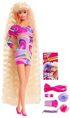 Totally Hair 25th Anniversary Barbie Doll Fashionista Style Mattel Fun Toy Set