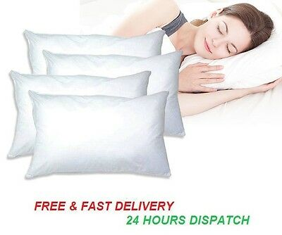 2-4 Pack White Anti-Allergy Pillow Protectors White Waterproof Pillow Protector